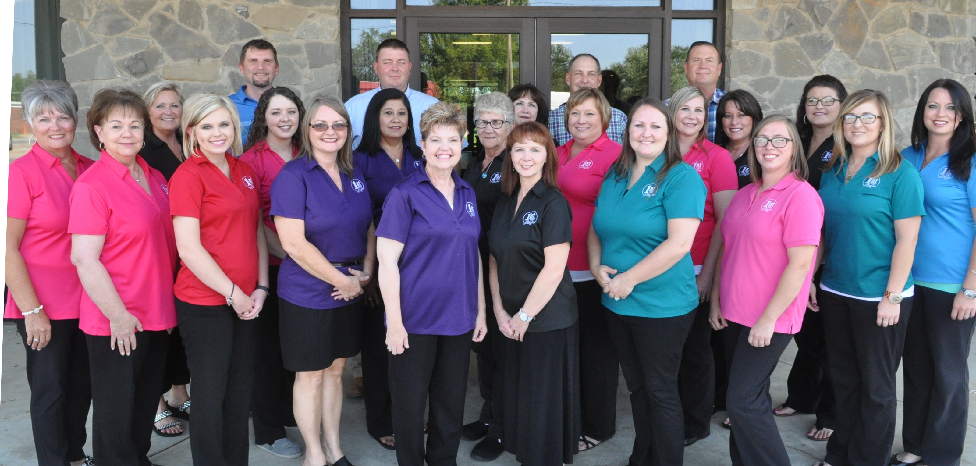 Picture of First National Bank staff.